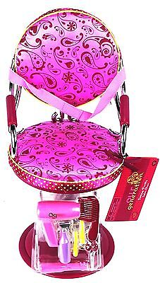 Our Generation beauty salon chair Hot Pink fits 18 american girl