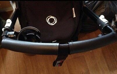 Custom made faux leather bugaboo bee handle covers