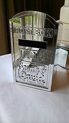 Mirror Finish Wedding Post Box - Supplied as flat pack easy to assemble