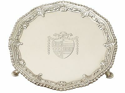 Sterling Silver Waiter - Antique George III