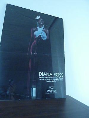 VTG POSTER Diana Ross Billie Holiday LADY SINGS THE BLUES 1972