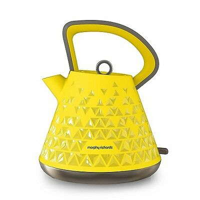 Morphy Richards Prism Kettle Yellow Cordless 1.5L 3000W 2 Year Warranty 108108