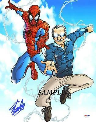 Stan Lee #1 Reprint Autographed Signed Picture Photo Auto Spiderman Collectible
