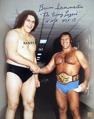 Andre The Giant Bruno Sammartino Reprint Autograph Signed Picture Photo Wwe Wwf