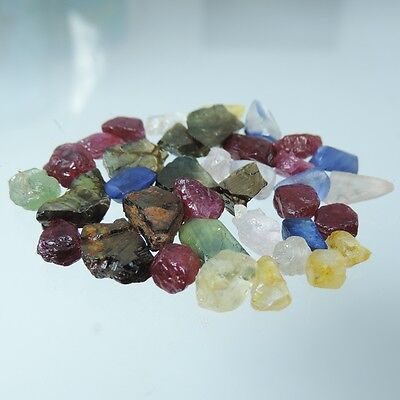 61.39 Ct new Natural Rough Loose Gemstones nice  Lot Fancy Sapphire Mixed 37 Pcs