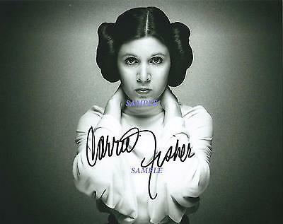Carrie Fisher #7 Reprint Autographed 8X10 Signed Picture Photo Collectible Rp