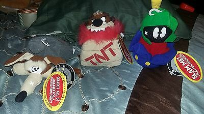 1998 MARVIN The Martian,Taz,Wile - Slam Me! Beanbag Plush Doll Toy Looney Tunes