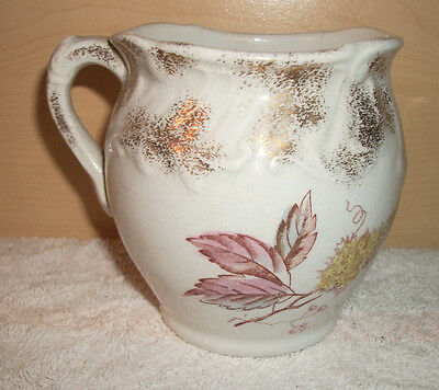 Vintage Creamer White with Gold and Flower Design