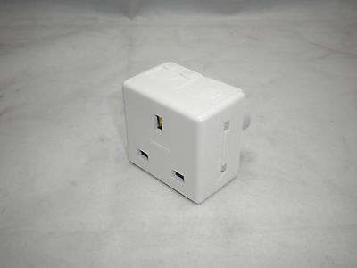 Gewiss Gw20208 13A 230V 2Pin & Earth Unswitched 2Gang Modular Socket White