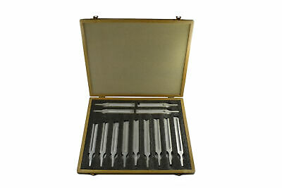 Eisco Labs 13 Piece Aluminum Tuning Fork Set in Wooden Case
