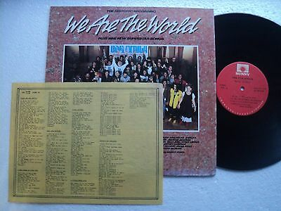 Michael Jackson  We are the World Rare & unseen TAIWAN only Ltd edit LP +Insert