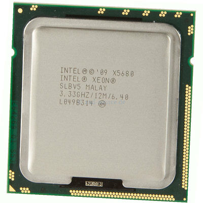 Intel Xeon X5680 3.33GHz 12MB 6-Core CPU 130W 614739-001, SLBV5