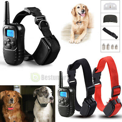 Waterproof 1000 Yard 2 Dog Shock Training Collar Pet Trainer +Remote 4 Modes USA