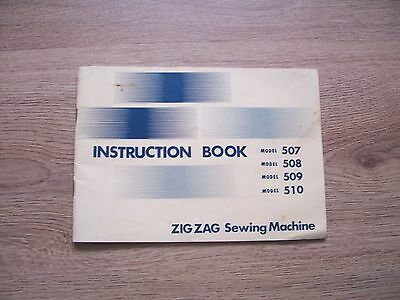 507 508 509 510 ZigZag Sewing Machine Instruction Manual.
