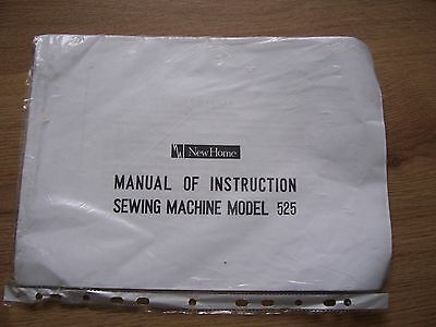 New Home Sewing Machine model 525  Instruction Manual.