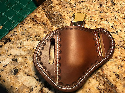Custom Made Leather Sheath for CASE  TRAPPER or STOCKMAN or Buck 112 W/Thread