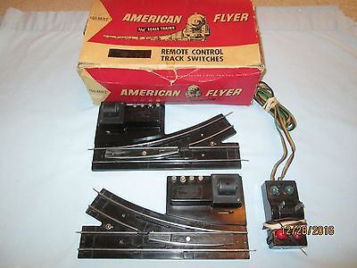 Pair of American Flyer #720 Switches w/Controller & OB- Very Clean- Working
