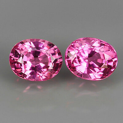 0.33 Ct Unheated Srilanka Natural Pink Spinel Earing Oval Cut Loose Gemstones