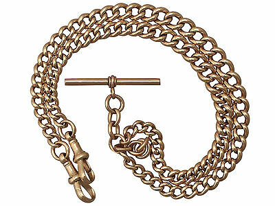 Antique 9 ct Yellow Gold Double Albert Watch Chain, 1923