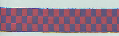 5 yards AUSTRALIA FIRE SERVICE Hat Band Ribbon (Blue and red Sillitoe Tartan)