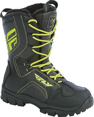 Fly Racing Marker Snowmobile Boots Mens All Sizes Black/Hi Vis
