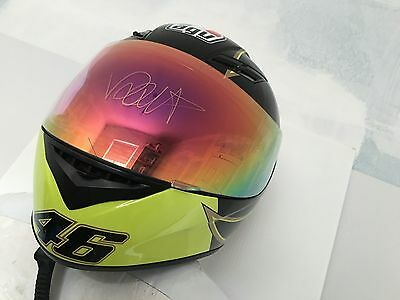 VALENTINO ROSSI Signed Autographed HELMET COA - PROOF - OFFICIAL RACE AGP VR46