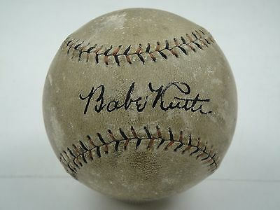 Babe Ruth Single Signed Baseball Jsa Certified Authentic Autographed Mint Auto!