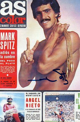 "swimming mark spitz signed 6"" x 4"" photograph"