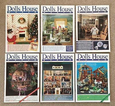 6 Back Issues: DOLLS HOUSE WORLD, 1989-91