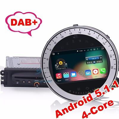 "7"" Car Radio BMW Mini Cooper GPS Navigation Android 5.1 Autoradio DAB+ 3G DTV-IN"