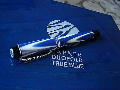"Parker Duofold True Blue Limited Edition Fountain Pen ""new"""