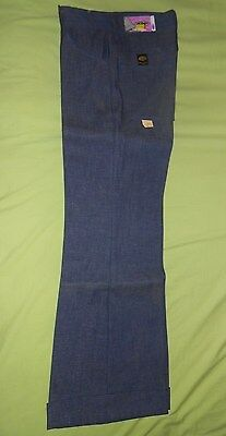 70's Vintage MANN Pants Boy/Girl 16 Regular Cuff Hippy Denim Blue Jeans Pants!