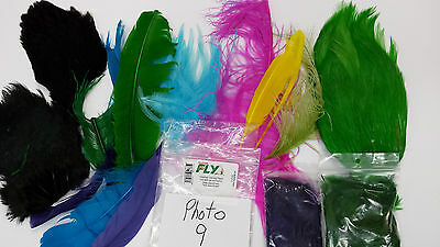 LOT of DYED FEATHER VARIETY PACK ASSORTMENT photo #9 good for FLY TYING KIT