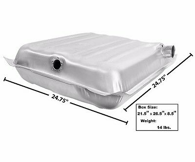 1957 Chevy Bel Air Nomad Two Ten 210 Fuel Gas Tank w/ Fill Vent Tube Stainless