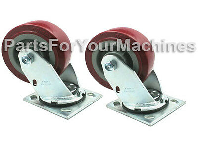 """2 Caster Wheels 5""""x2"""" For Tennant 5680 & 5700, 7200 Rider Scrubber, Rep 222467"""