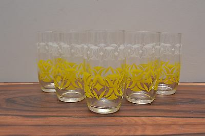 Fabulous mid century vintage 50s drinking glasses