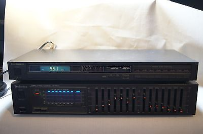 Technics 7- Band Graphics Equalizer SH-8033 Spectrum Analyser and tuner ST-S77