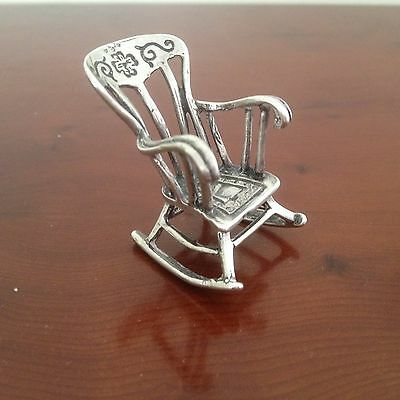 Vintage Minature Sterling Silver Rocking Chair