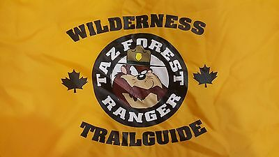 Looney Toons WB Jacket Tazmanian Devil Wilderness Trailguide Taz Forest Ranger