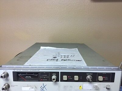 HP/Agilent 86720A-K22 Frequency Extension Unit RF INPUT .01 to 18.0 GHz Opt 001