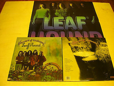 LEAFHOUND-growers of mushroom-LP reissue of 1971-super progressive Rock + Poster
