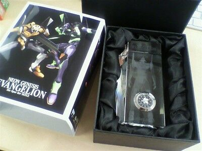 NEON GENESIS EVANGELION 3D Crystal watch clock Unit 01 Limited Free Shipping NEW
