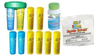 3-4 DAY SHIP Spa Frog 10 pk 7 Bromine 3 Mineral Float & Test Strips Jump Start