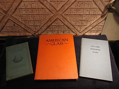 Vintage Glass Reference Books Lot Of 3 Victorian Cut Engraved American Guides