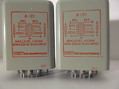 A-21 A21 UTC 600 Ohm Line Transformers mixer