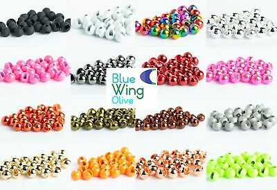 Slotted Tungsten Beads for Fly Tying- 100 Pack