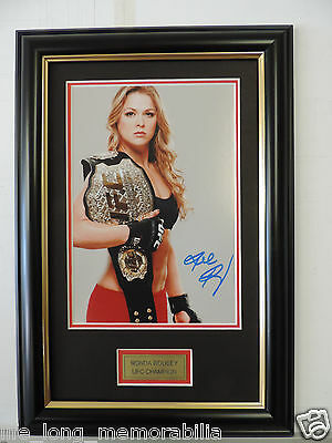 Ronda Rousey UFC CHAMPION SIGNED FRAMED
