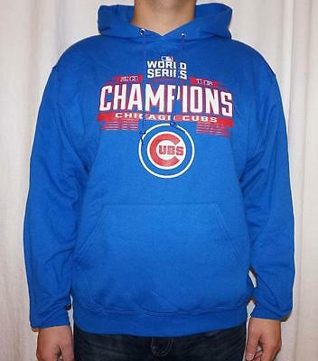 c756b1ffc42 Men s Chicago Cubs 2016 World Series Champions Pullover Hoodie - Royal Blue