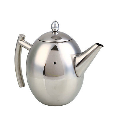 Practical 1.5L/1L Stainless Steel Kettle Teapot Coffee Pot Filter Hotel
