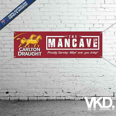 Carlton Draught Mancave Banner - Man Cave Bar New Custom Personalised Beer Can